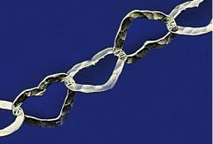 Herzketten gehämmert / lose (ø 8.8x7.1mm) / 925 Silber