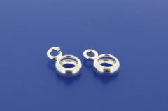 Ring mit Öse offen / 925 Silber