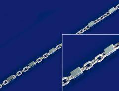 Ankerketten mit Würfel und Karabiner (ø1.1mm) / 925 Silber