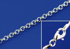 Erbsketten mit Karabiner (ø 1.8 mm) / 925 Silber