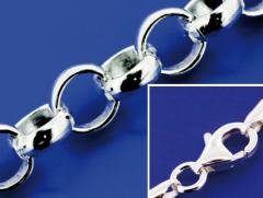 Erbsketten mit Karabiner (ø 3.8 mm) / 925 Silber