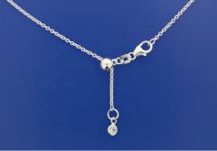Silberketten ANKER RUND VARIO mit ZIRKONIA (Karabiner) / 925 Silber LÄNGE VARIABEL!