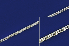 Silberketten mit Federring ( ø 1.10 mm) / 925 Silber
