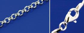 Silberkette mit Karabiner